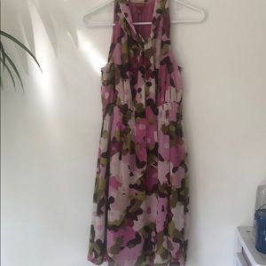 Purple flowered dress